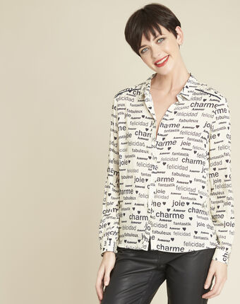 Ravel white shirt with print white.