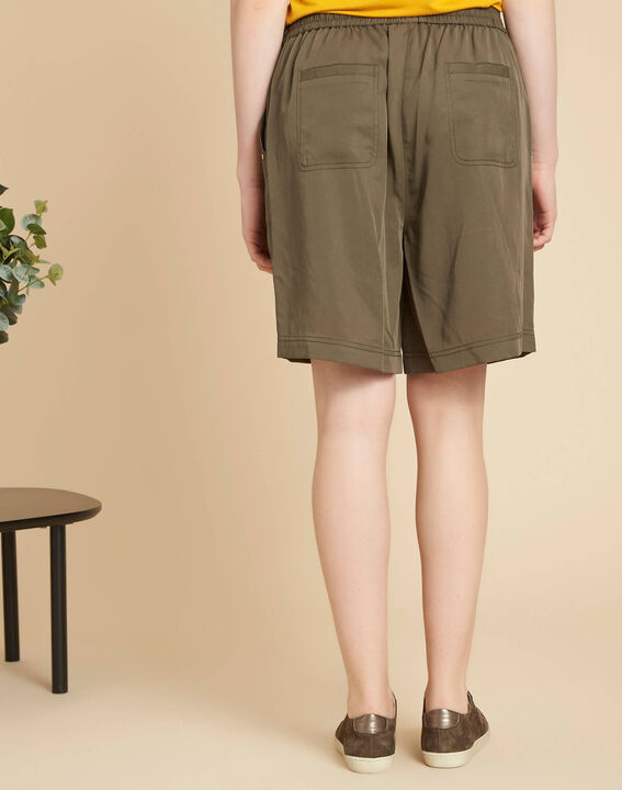 Janel khaki shorts with tie belt (4) - 1-2-3