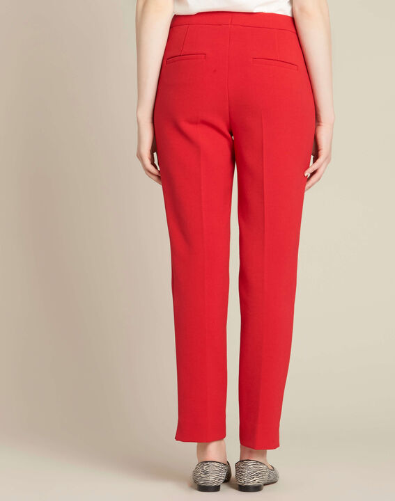 Lara red slim-cut fitted jeans (4) - 1-2-3