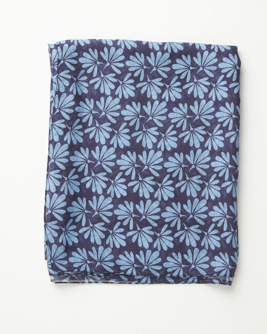 Annick blue floral print scarf (1) - 1-2-3