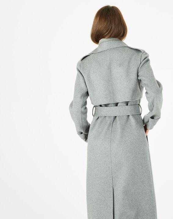 Langer grauer Wollmantel Jill (4) - 1-2-3