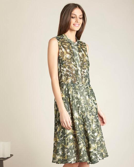 Prague khaki camouflage print dress (2) - 1-2-3