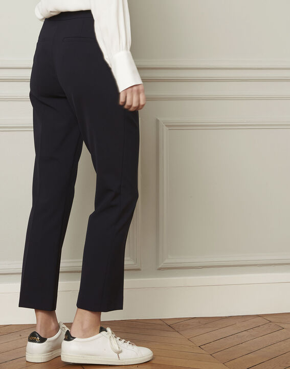 Gaston flared navy trousers (3) - Maison 123