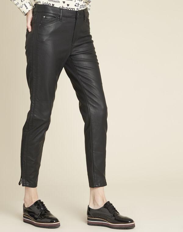 Slim fit 7/8-jeans van imitatieleer Opera (1) - 37653