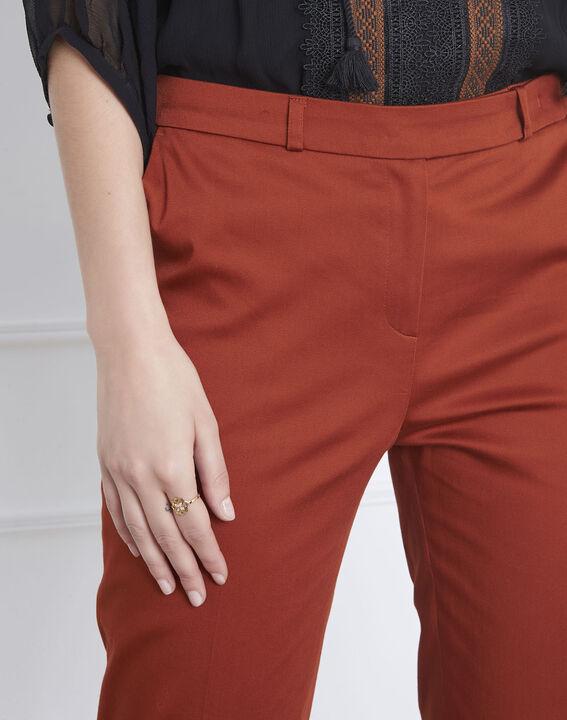 Pantalon acajou cigarette Rubis (3) - 1-2-3