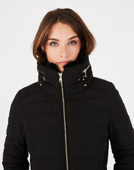 Laure short black puffer jacket (3) - 1-2-3