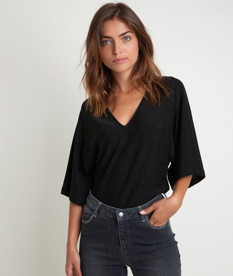 Tee-shirt noir brillant Dylan PhotoZ   1-2-3