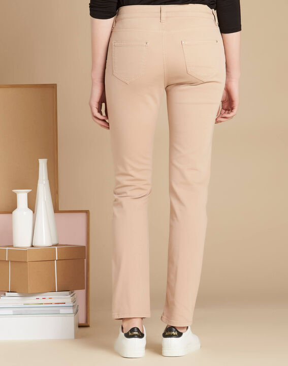 Beige slim fit 7/8-jeans Vendôme (4) - 37653