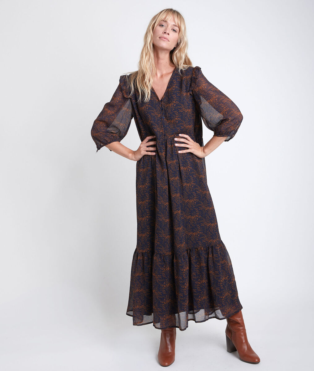 Robe longue imprimée Claire PhotoZ | 1-2-3