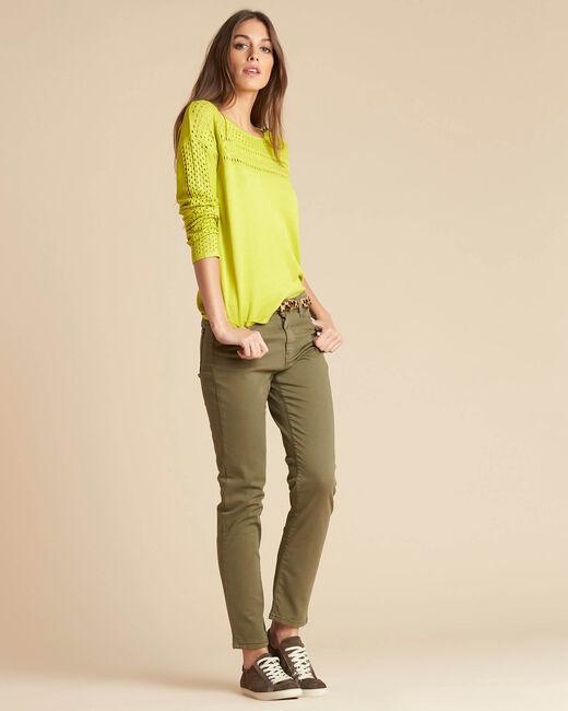 Khakifarbene Slim-Fit-Jeans normale Leibhöhe Vendome (1) - 1-2-3