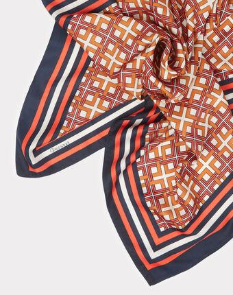 Foulard imprimé graphique elodie orange.