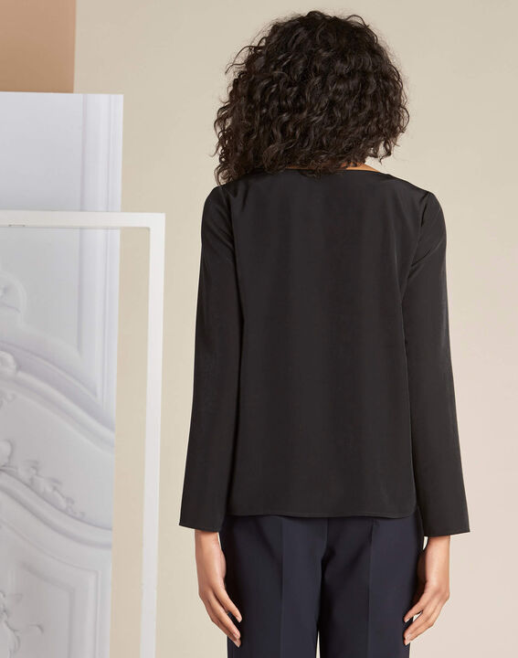 Zwarte blouse met veters Domino (4) - 37653