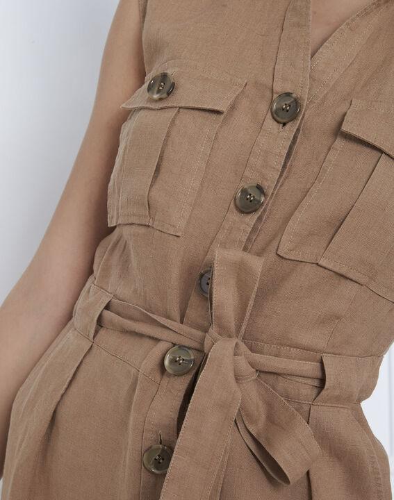 Robe havane saharienne en lin Lennon (3) - Maison 123