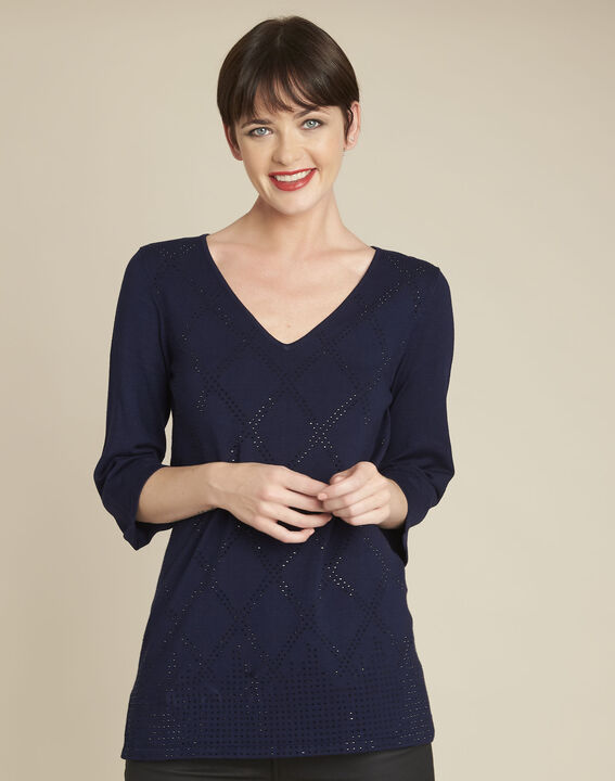Brille navy rhinestone tunic PhotoZ | 1-2-3