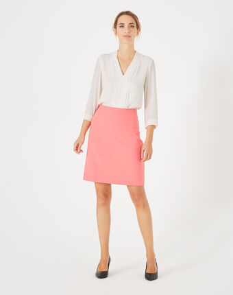 Fantastic pink straight-cut tailored skirt dark pink.