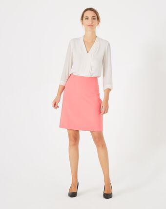 Jupe de tailleur rose droite fantastic rose fluo.