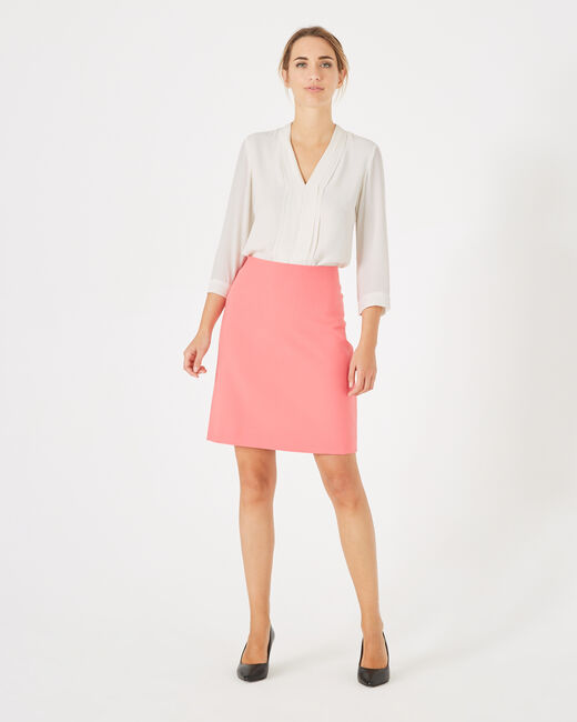 Fantastic pink straight-cut tailored skirt (1) - 1-2-3