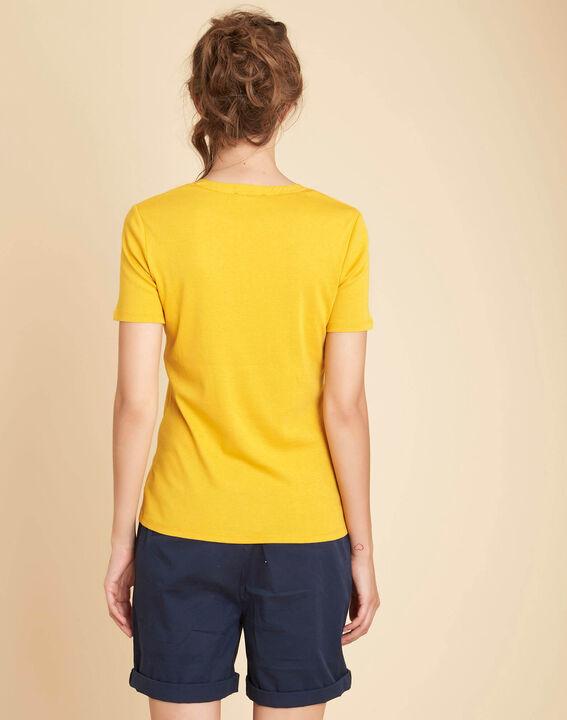 Episod yellow T-Shirt with Mandarin neckline and studs (4) - 1-2-3