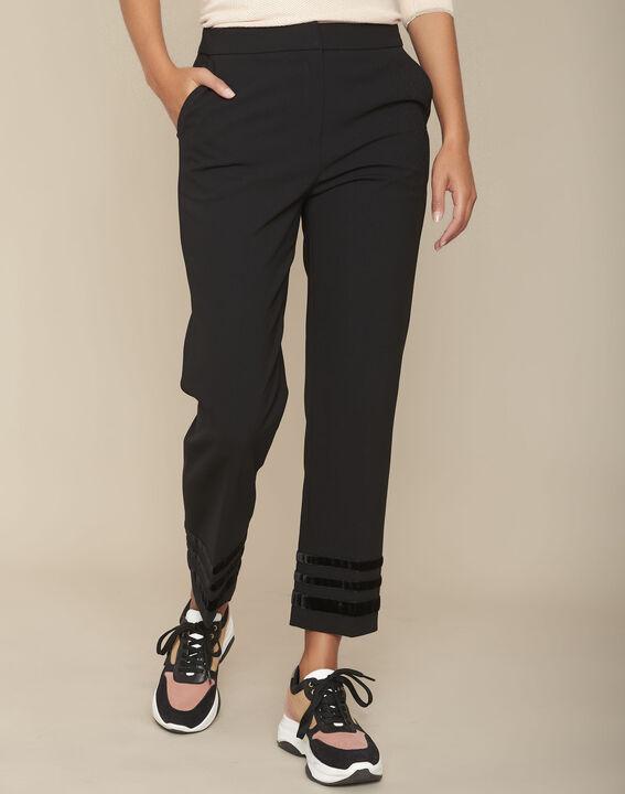 Pantalon en microfibre noir Eddy PhotoZ | 1-2-3