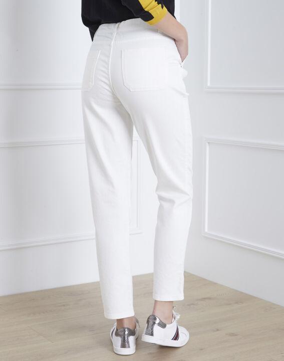 Cremeweiße 7/8 Boyfriend-Jeans Coconut (4) - Maison 123