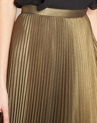 Lore long golden pleated skirt gold.