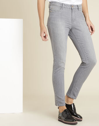 Graue 7/8-slim-fit-jeans vendome mausgrau.