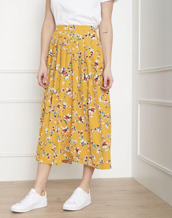 Jupe jaune imprimé fleuri Selma (2) - Maison 123