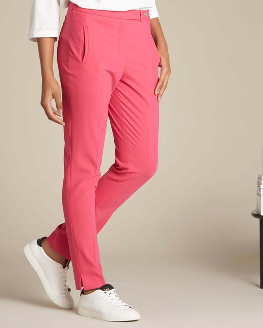 Rote Slim-Fit Business-Hose Lara (2) - 1-2-3