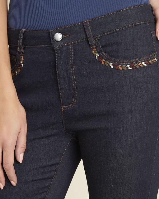 Jean brut droit poches brodées Vivienne (2) - 1-2-3