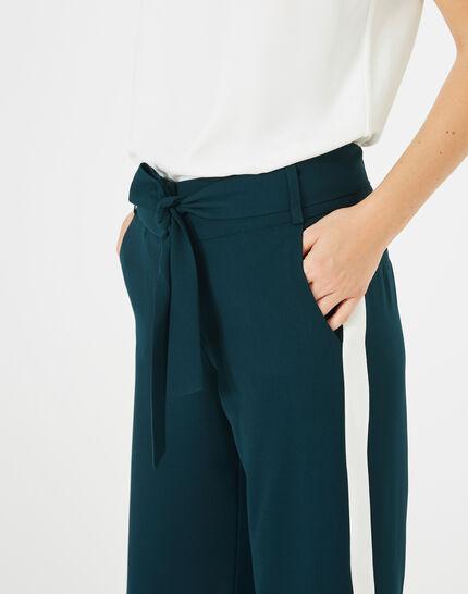 Pantalon vert foret fluide bande côté Kamelia (3) - 1-2-3