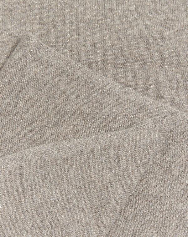 Echarpe taupe en cachemire irisé Felicia (1) - 1-2-3