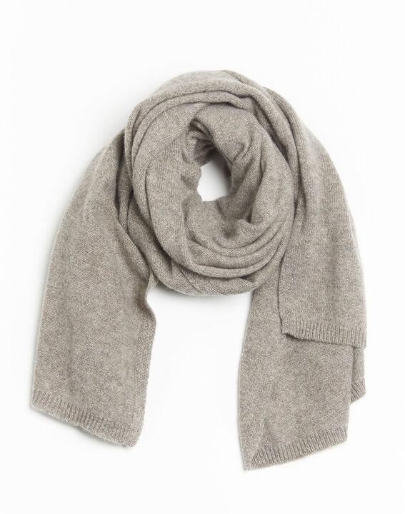 Felicia taupe cashmere scarf PhotoZ | 1-2-3
