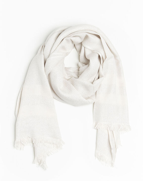 Fortune nude striped lurex scarf (1) - Maison 123