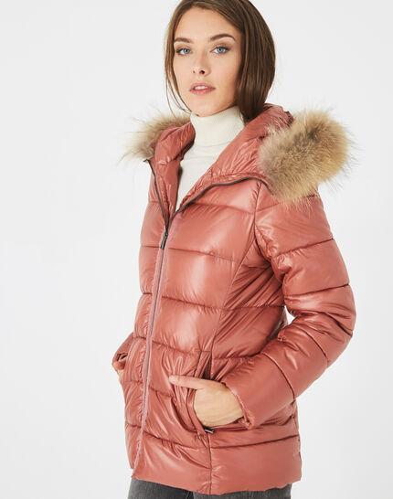 Lena short, old rose puffer jacket (3) - 1-2-3