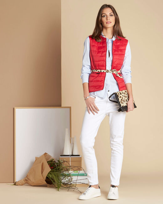 Yvana fine red sleeveless quilted jacket (2) - 1-2-3