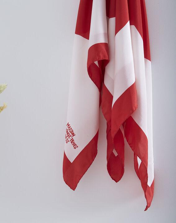Carré de soie rouge imprimé floral Ollie (2) - Maison 123