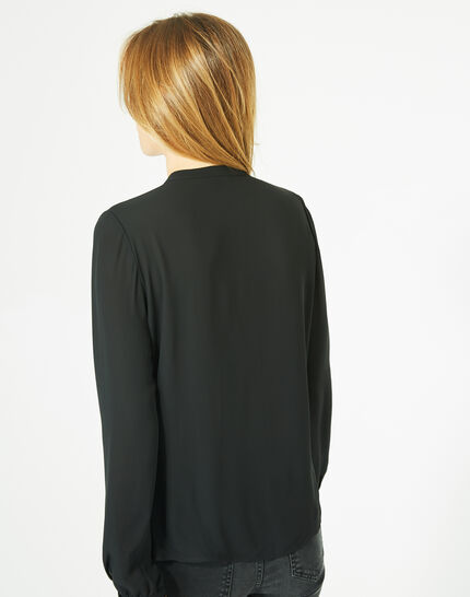 Doris black blouse with long sleeves (5) - 1-2-3