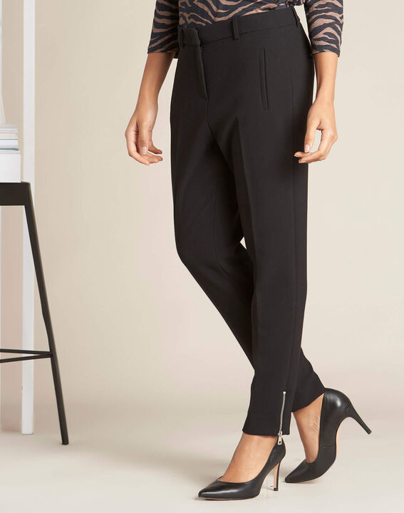 Valero black fitted trousers with zips (3) - 1-2-3