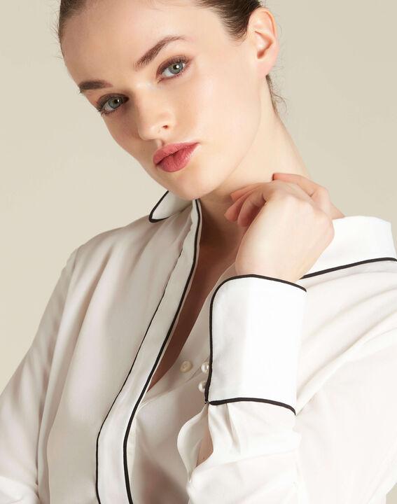 Weiße Bluse mit Borte Darianne PhotoZ | 1-2-3