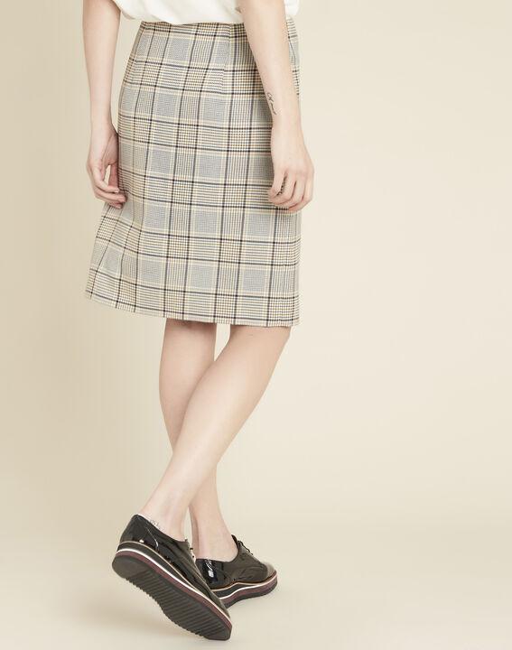 Abel check skirt with side slit (4) - 1-2-3