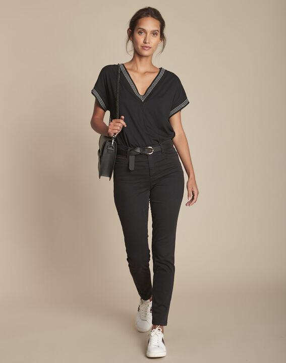 L'Iconique slim jean 7/8e noir Sultan PhotoZ | 1-2-3