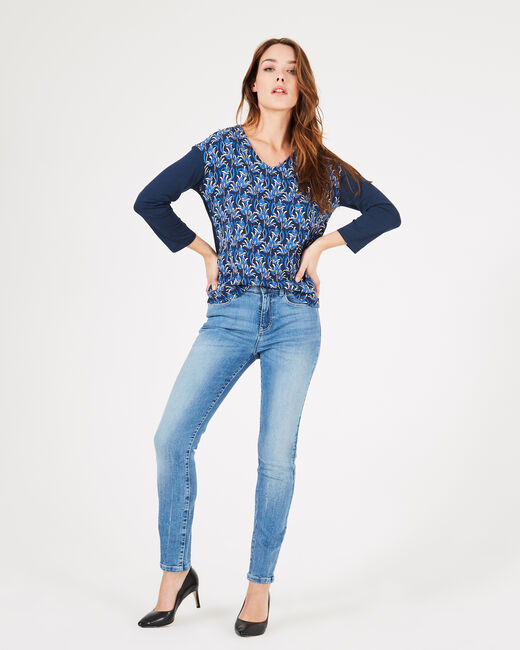 Backstage navy blue printed T-shirt with long sleeves (1) - 1-2-3