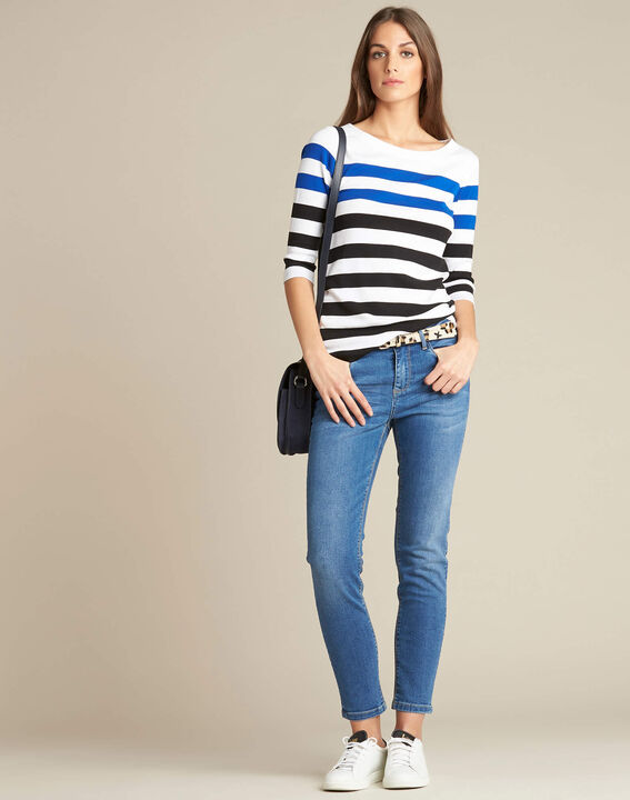Eguemarine striped T-shirt with 3/4 length sleeves (2) - 1-2-3