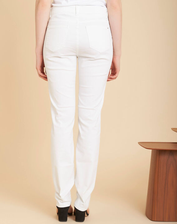 Weiße Slim-Fit-Jeans mit normaler Leibhöhe Valley (4) - 1-2-3