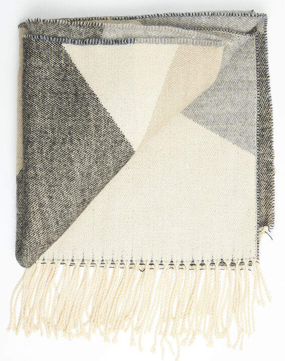 Festin nude check fringed scarf (3) - 1-2-3