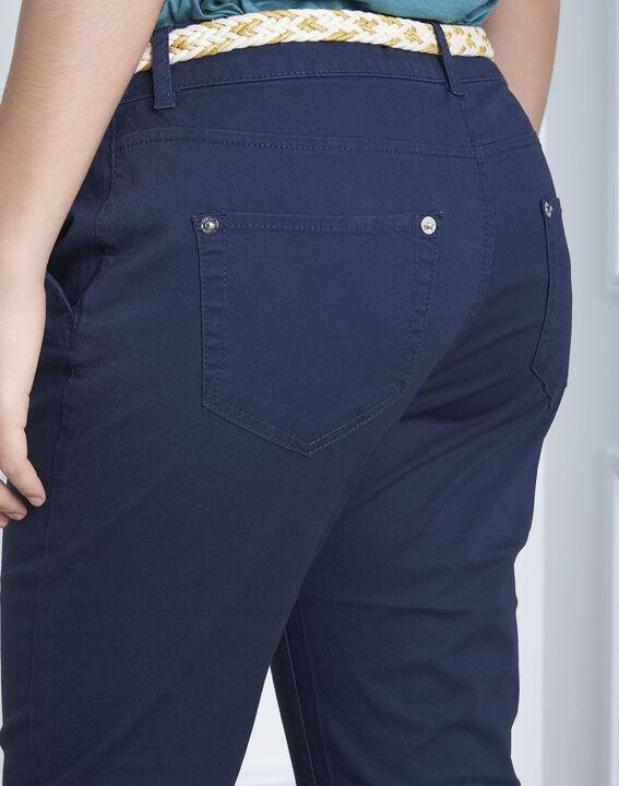 Pantalon marine chino ceinture fantaisie Francis (4) - Maison 123