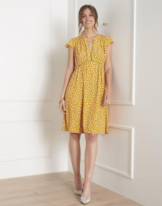 Robe jaune imprimée Lemon PhotoZ | 1-2-3