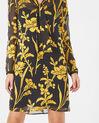 Robe or imprimé fleurs à col lavallière Arty (1) - 1-2-3