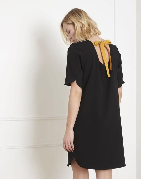 Robe noire crêpe noeud gros grain Liesse (4) - Maison 123