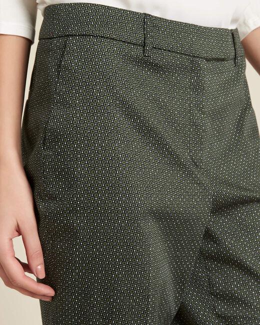 Rubis khaki printed tapered trousers (1) - 1-2-3